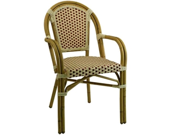 2071ARM Alum. Bamboo Chair