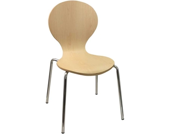 227-LM01 Chrome Bentwood Chair