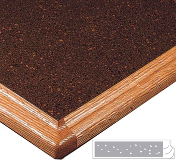 LW6525W Wood Edge Top