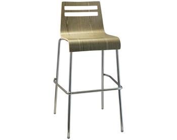 1200-SG Chrome Bentwood Barstool