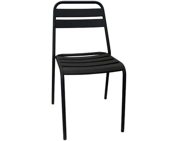 006-Dark Grey Steel Chair