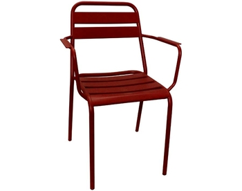 2006-RED Steel Arm Chair