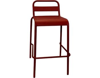 1006-Red Steel Barstool