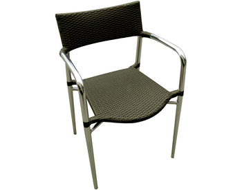 011 Aluminum Sage Wicker Chair